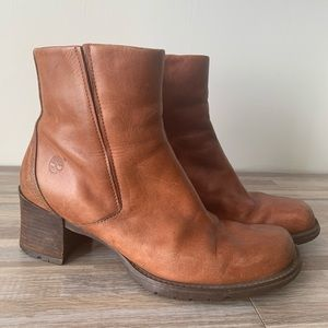 Timberland Square Toe Leather Boots Size 10